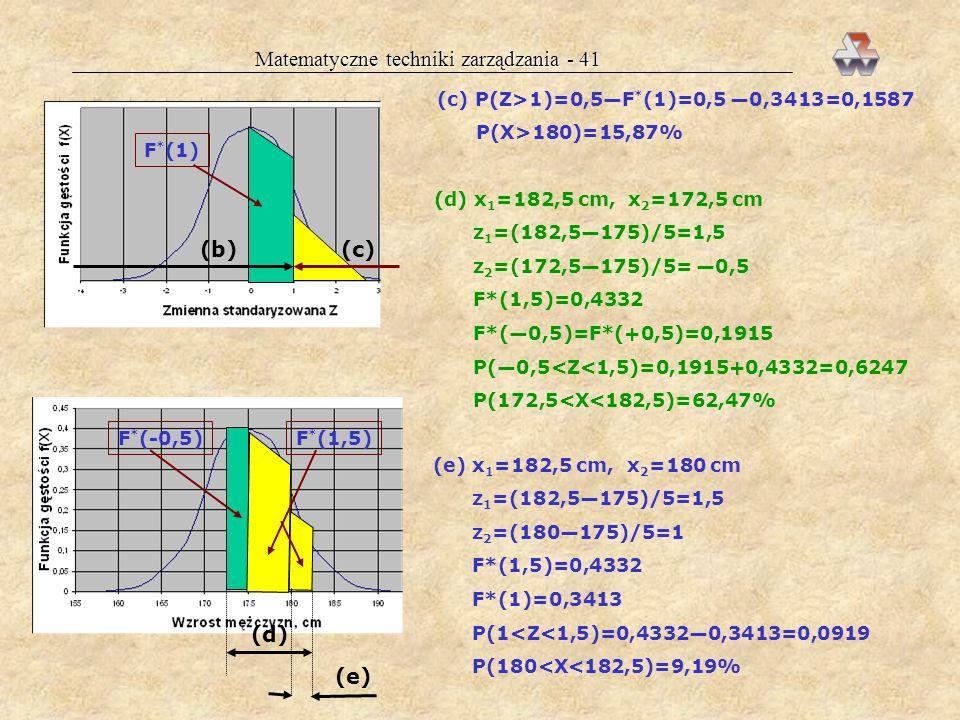 Matematyczne techniki zarządzania - 41
