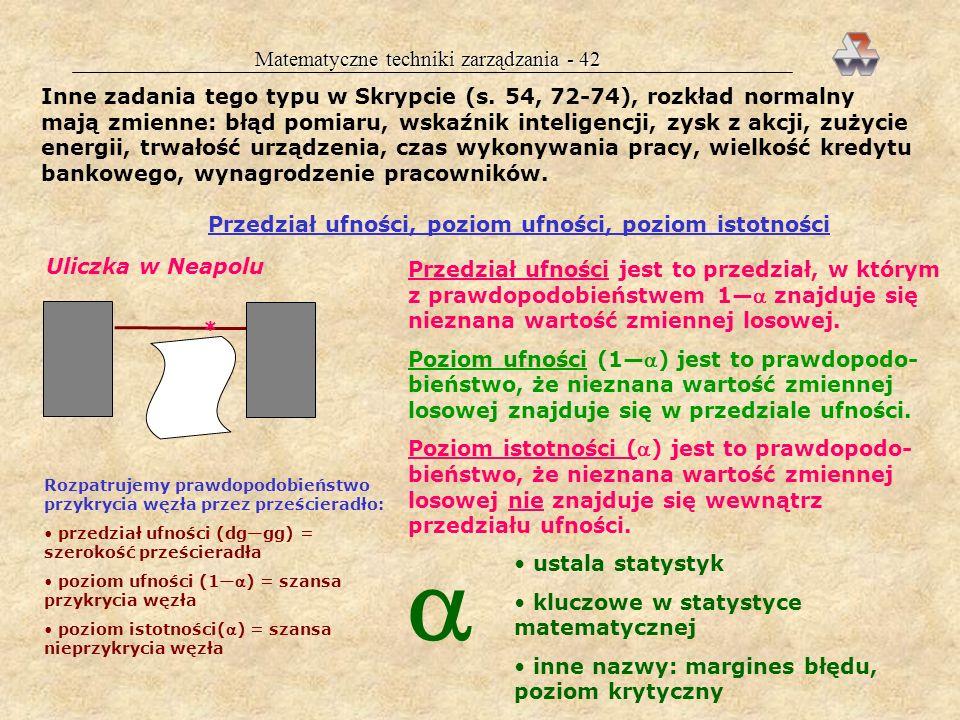 Matematyczne techniki zarządzania - 42