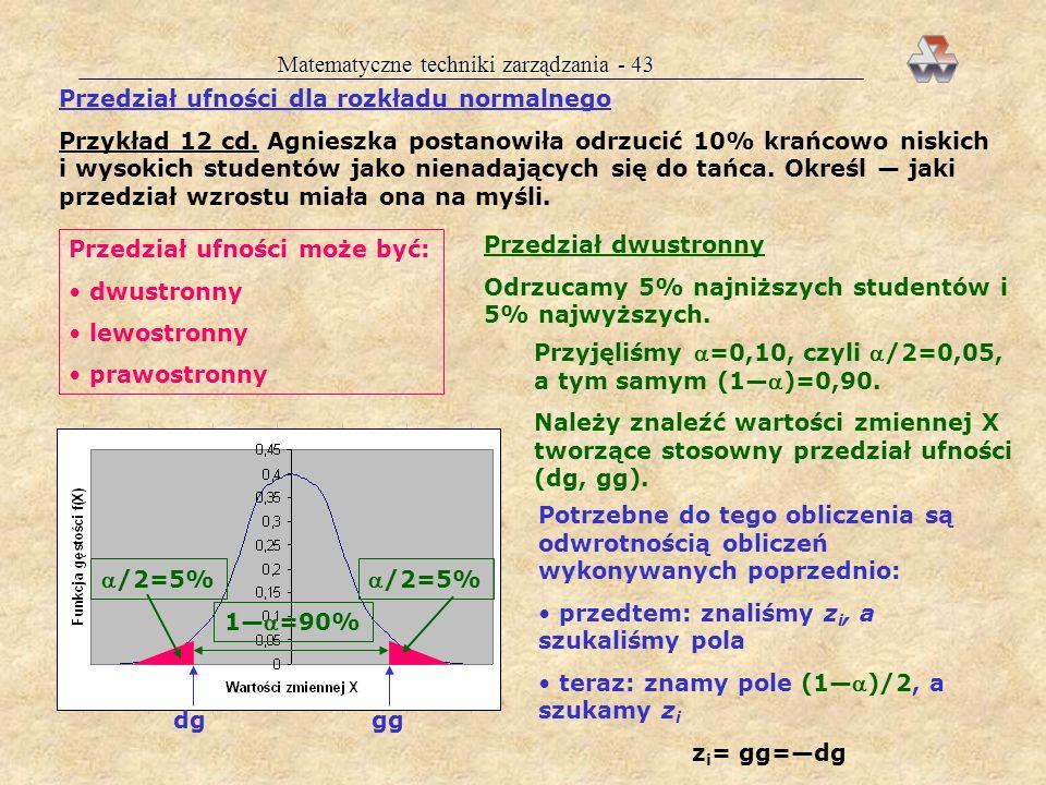Matematyczne techniki zarządzania - 43