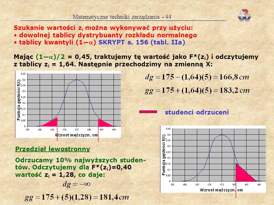 Matematyczne techniki zarządzania - 44