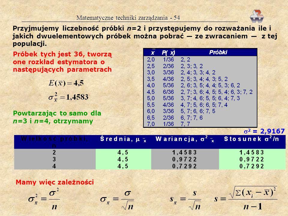 Matematyczne techniki zarządzania - 54