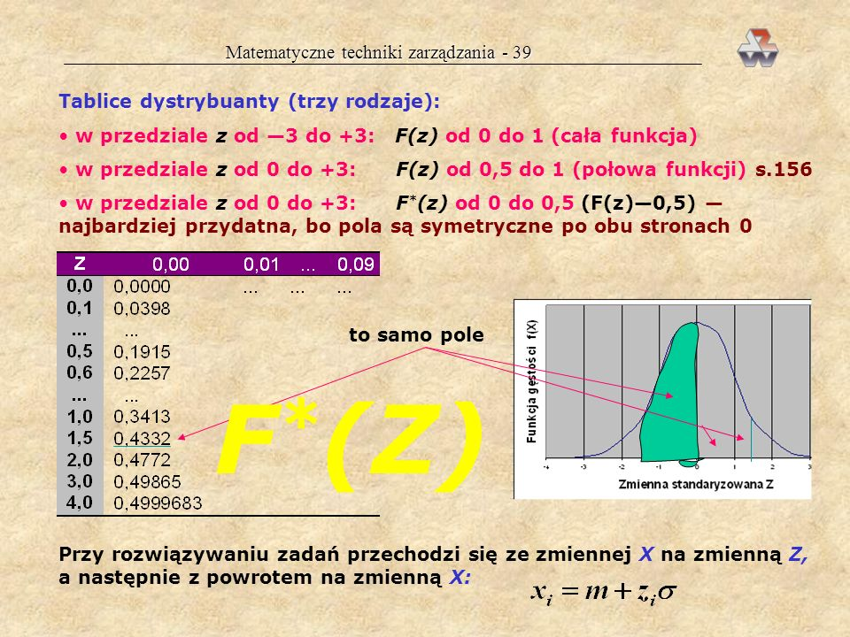 Matematyczne techniki zarządzania - 39