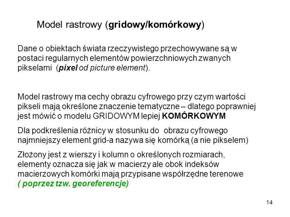 Model rastrowy (gridowy/komórkowy)