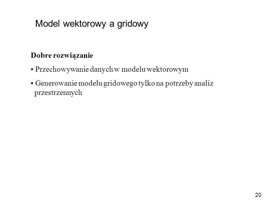Model wektorowy a gridowy