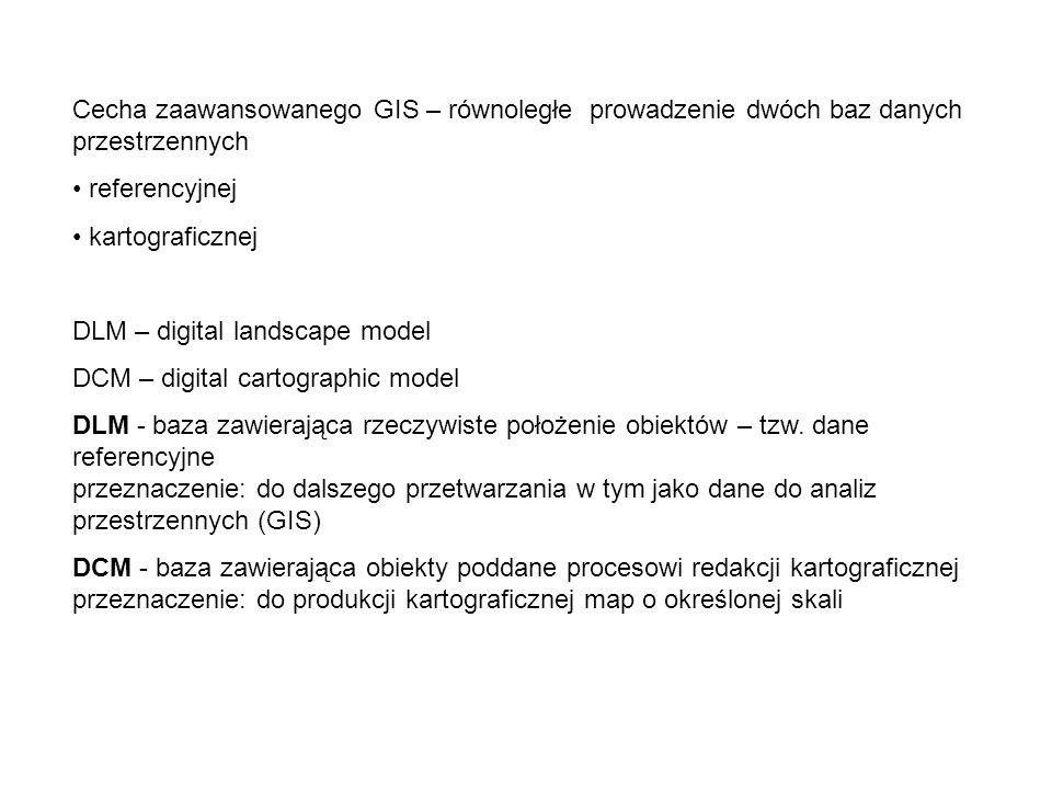 Cecha zaawansowanego GIS – równoległe prowadzenie dwóch baz danych przestrzennych