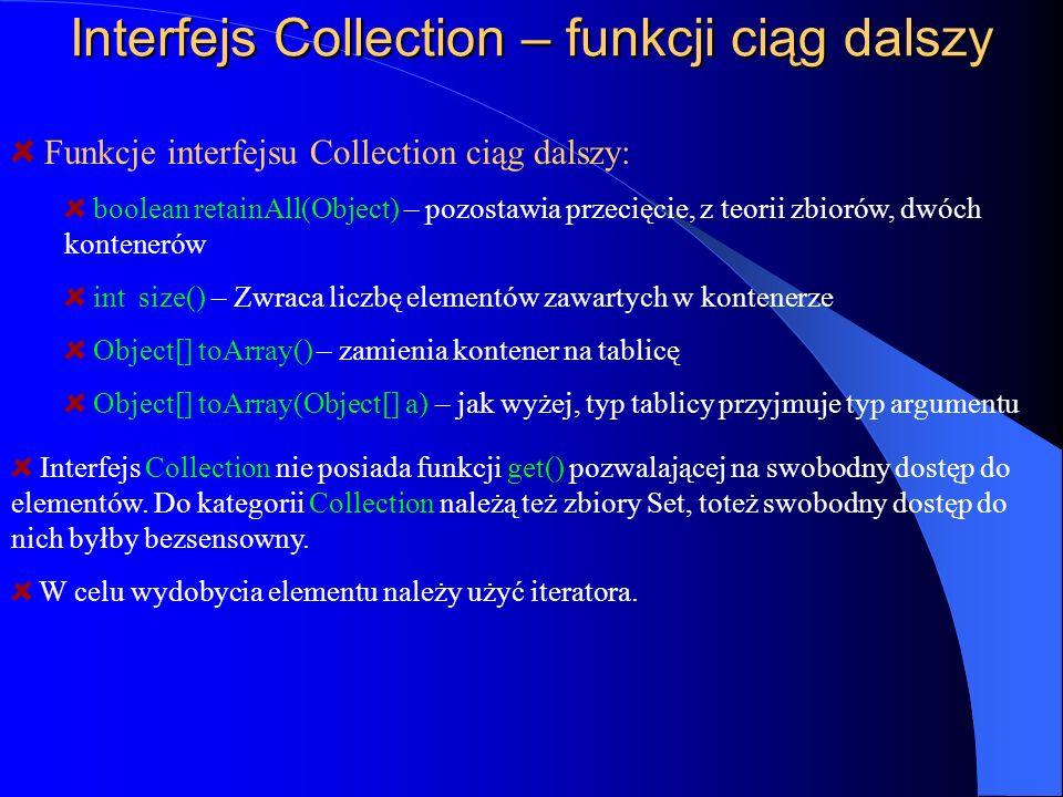 Interfejs Collection – funkcji ciąg dalszy