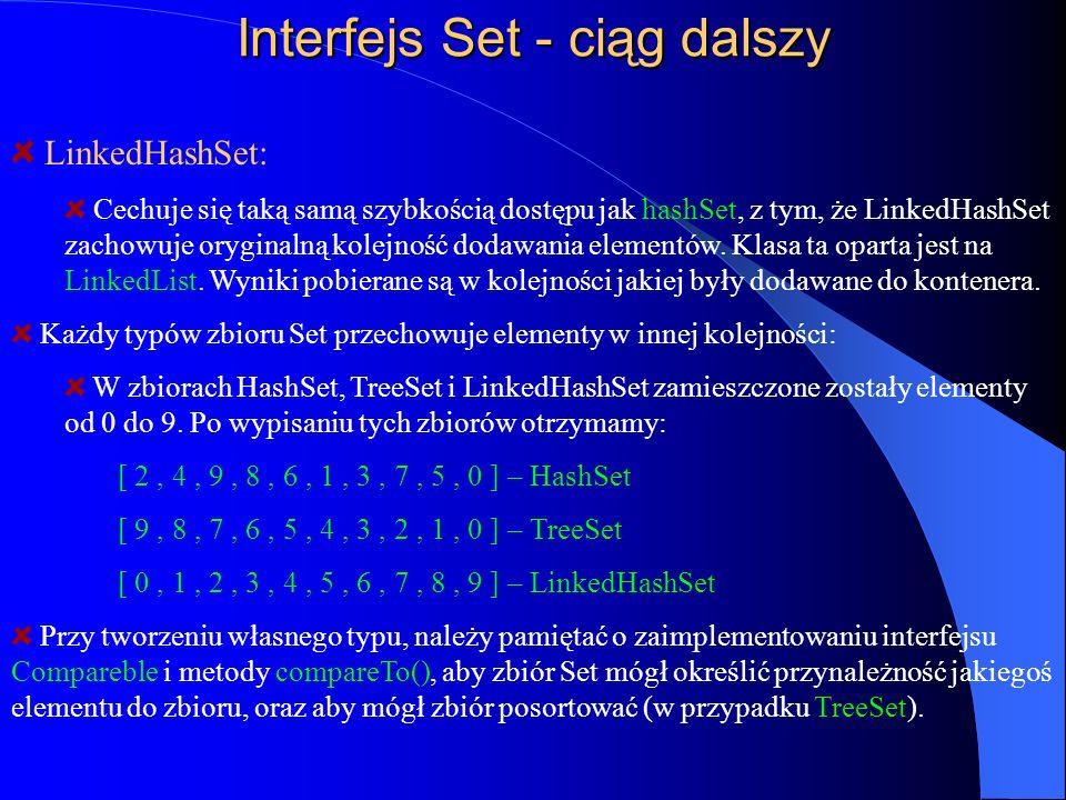 Interfejs Set - ciąg dalszy