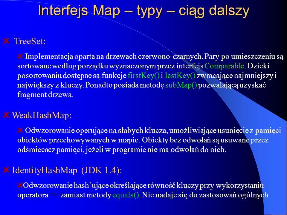 Interfejs Map – typy – ciąg dalszy