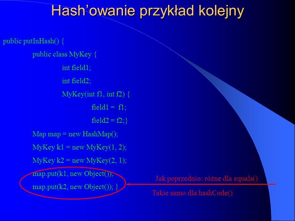 Hash'owanie przykład kolejny