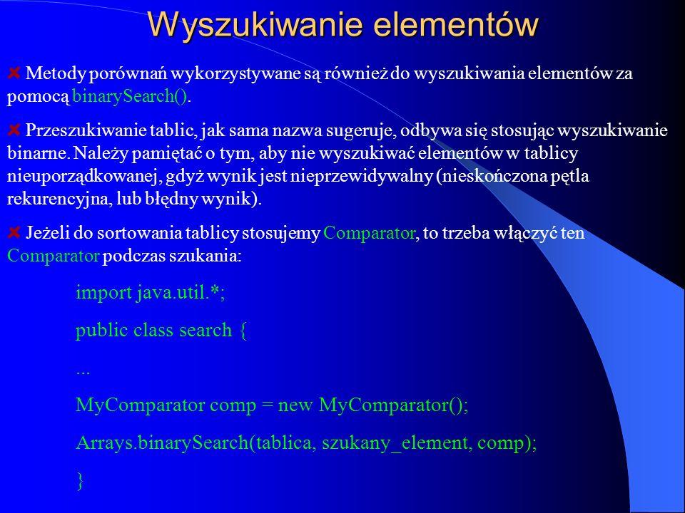 Wyszukiwanie elementów