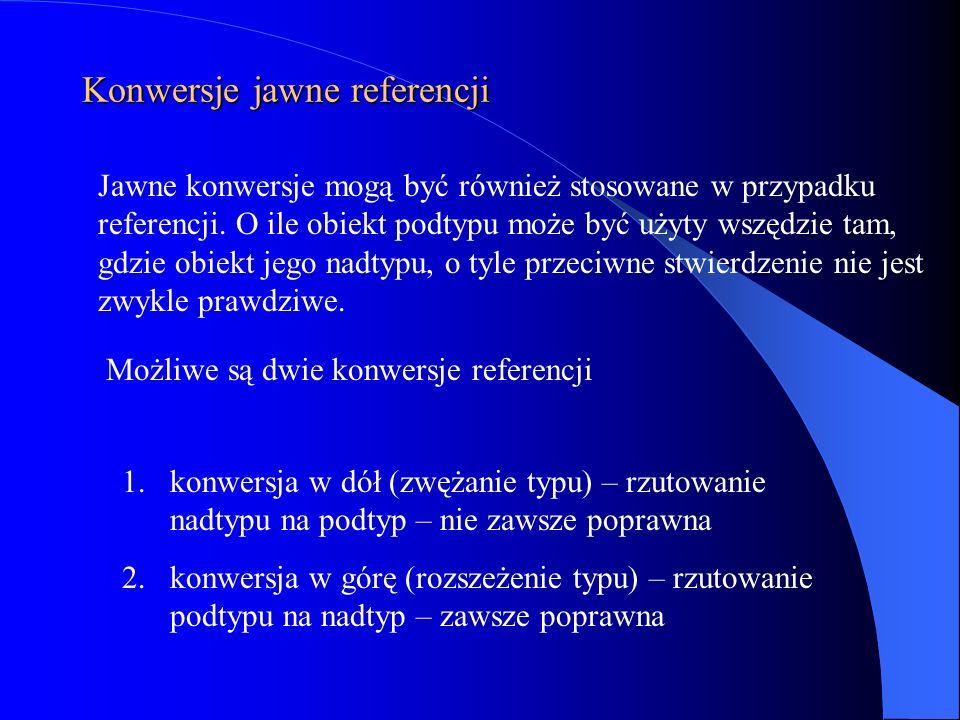 Konwersje jawne referencji