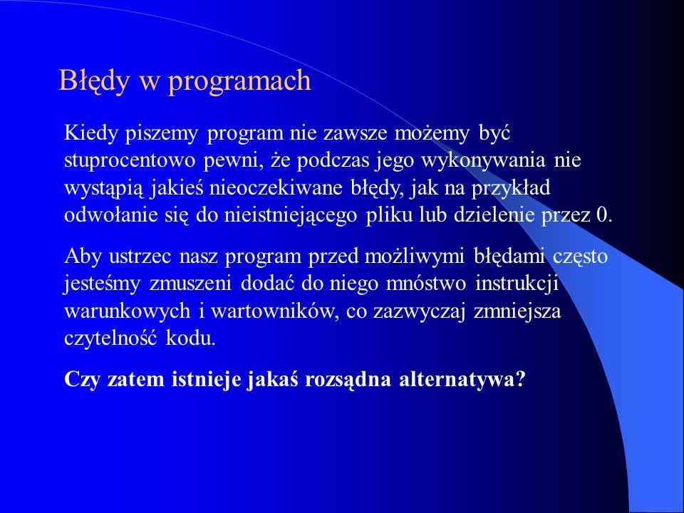 Błędy w programach