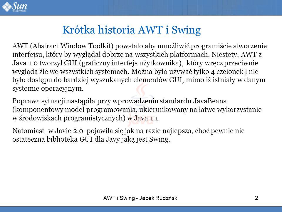Krótka historia AWT i Swing