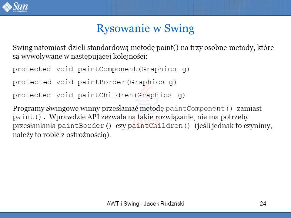 AWT i Swing - Jacek Rudzński
