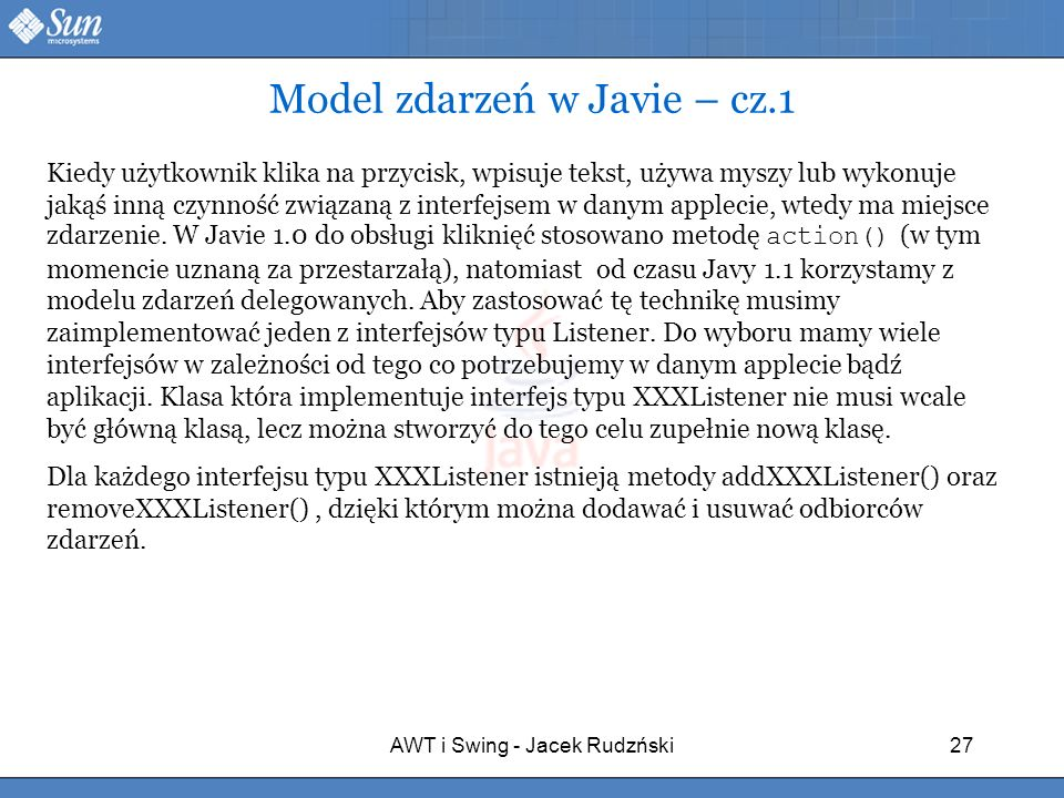 Model zdarzeń w Javie – cz.1