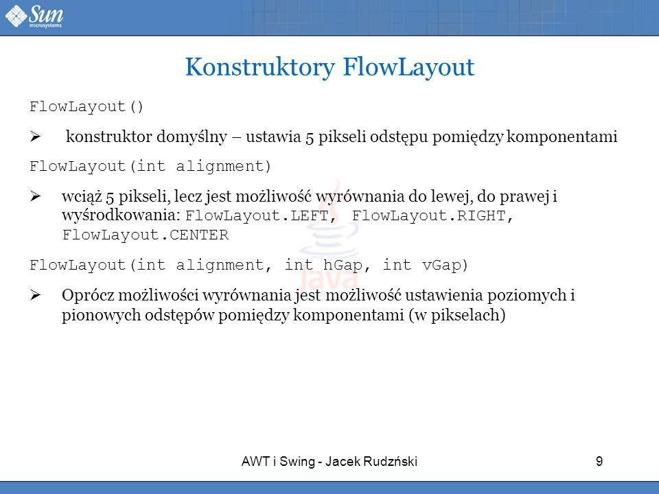 Konstruktory FlowLayout