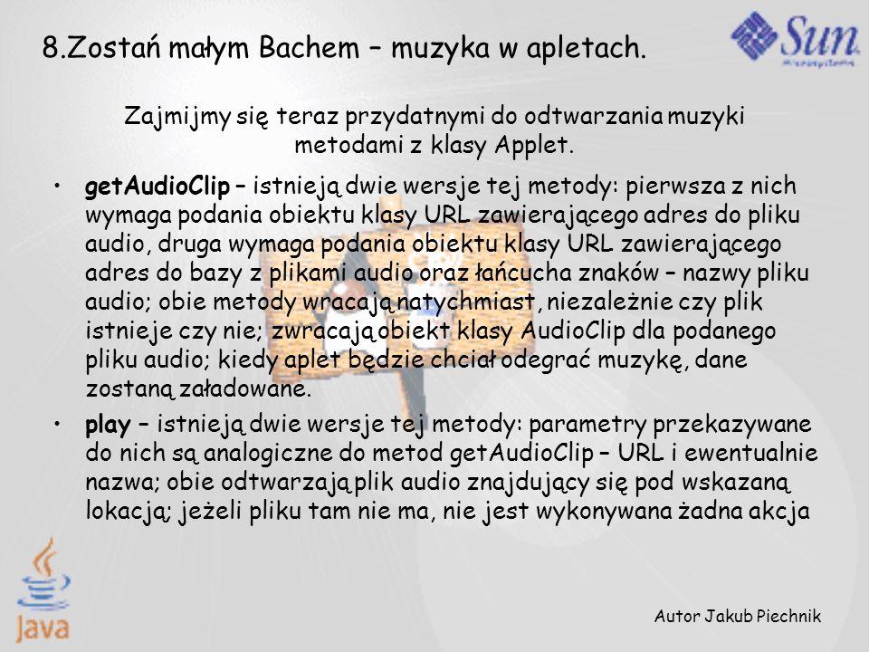8.Zostań małym Bachem – muzyka w apletach.