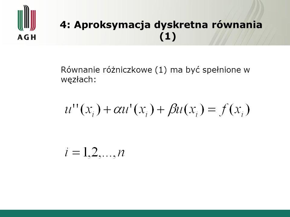 4: Aproksymacja dyskretna równania (1)