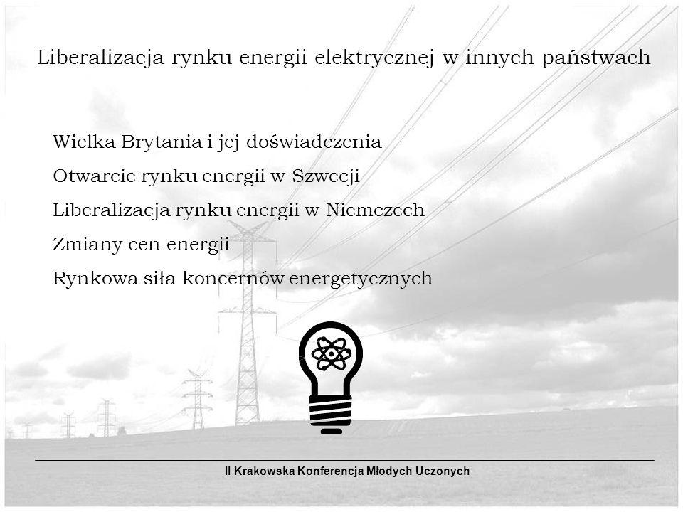Liberalizacja rynku energii elektrycznej w innych państwach