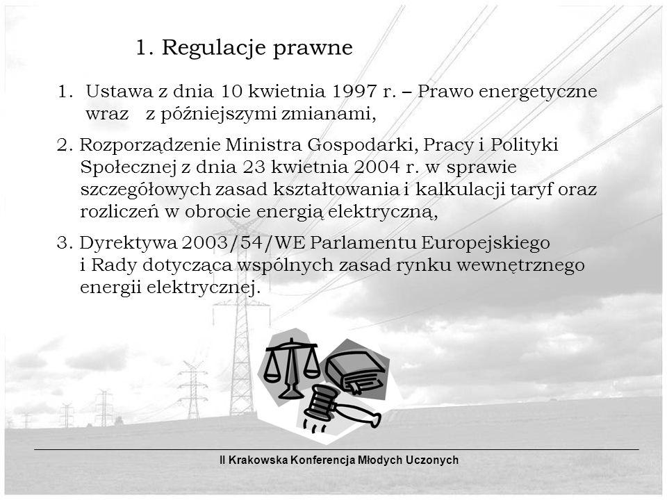 1. Ustawa z dnia 10 kwietnia 1997 r. – Prawo energetyczne
