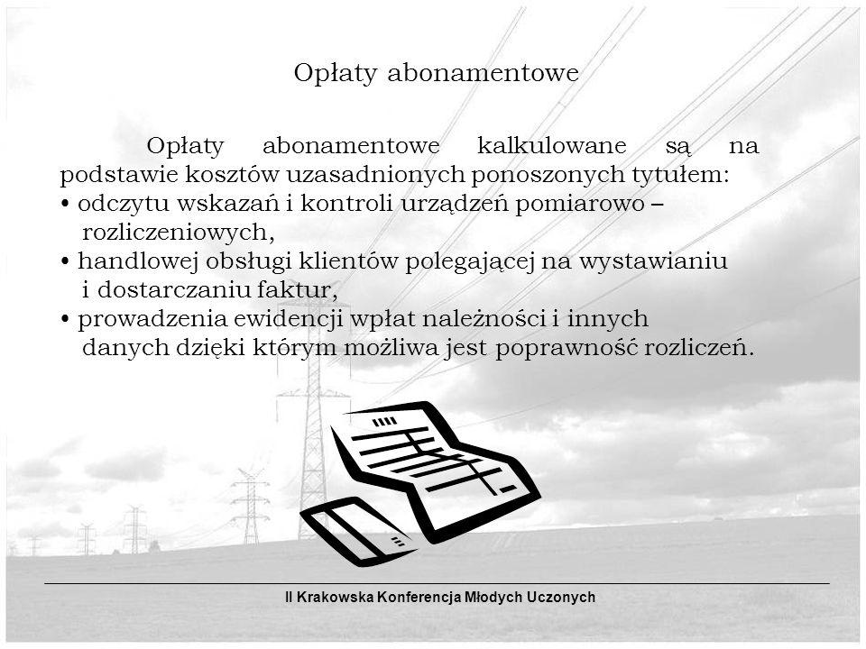 Opłaty abonamentowe odczytu wskazań i kontroli urządzeń pomiarowo –