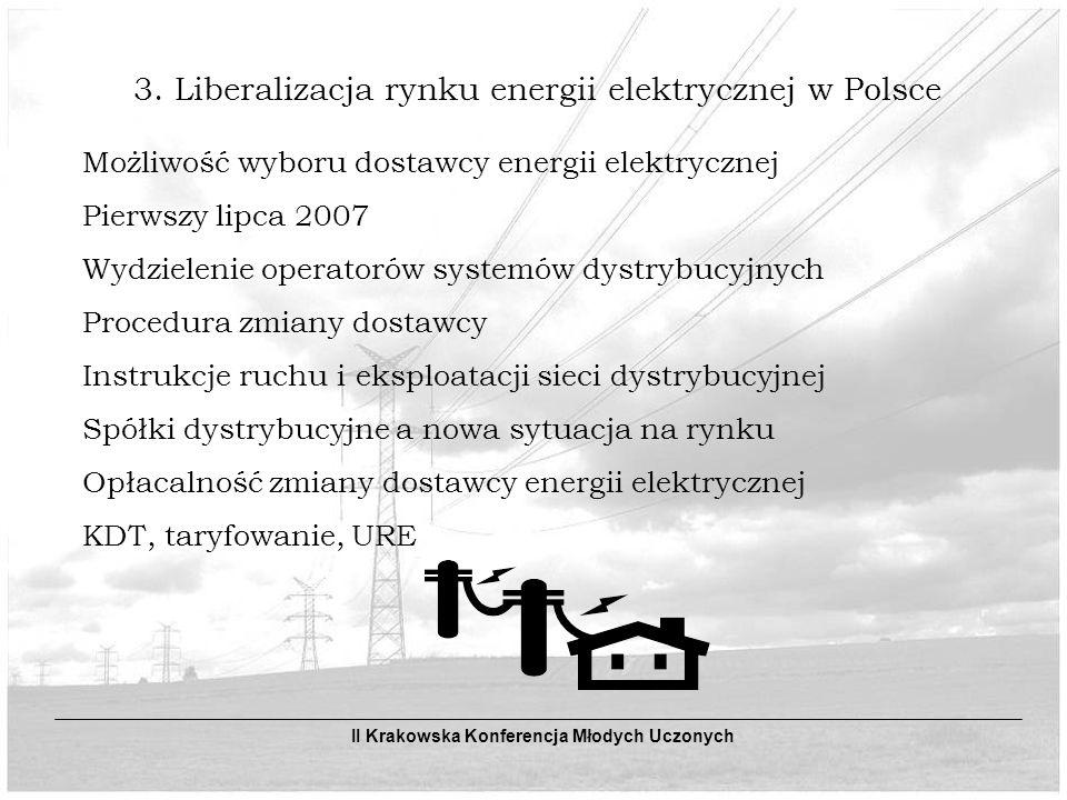 3. Liberalizacja rynku energii elektrycznej w Polsce