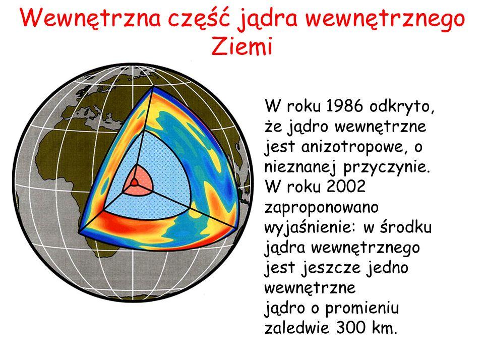 Wewnętrzna część jądra wewnętrznego Ziemi