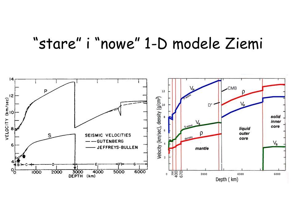 stare i nowe 1-D modele Ziemi