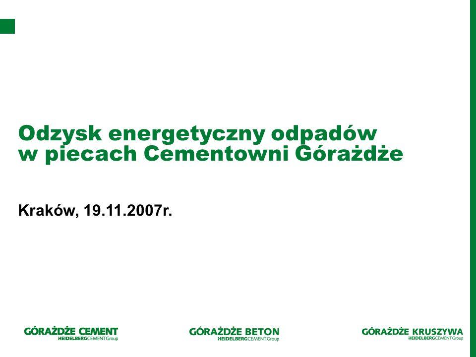 Odzysk energetyczny odpadów w piecach Cementowni Górażdże