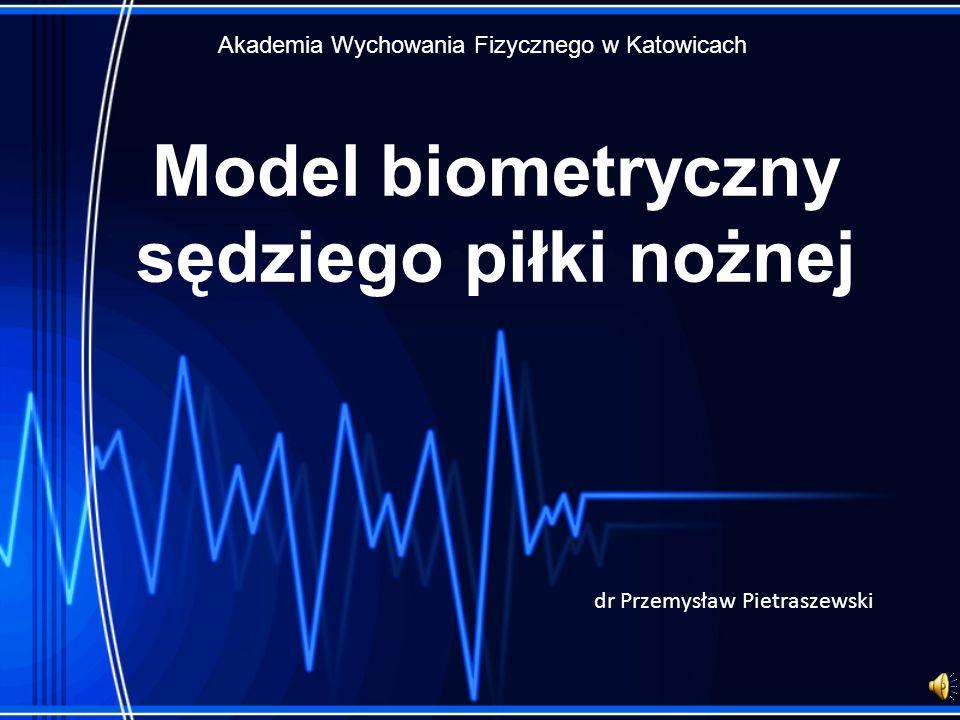 Model biometryczny sędziego piłki nożnej