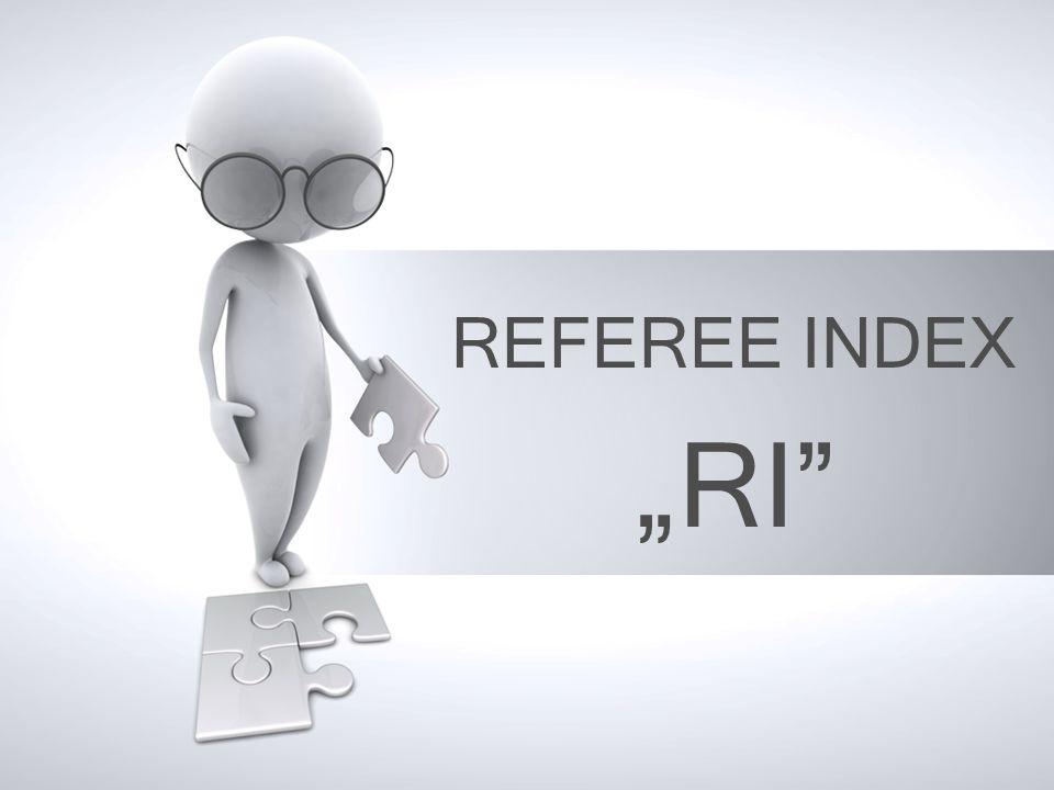 """REFEREE INDEX """"RI"""
