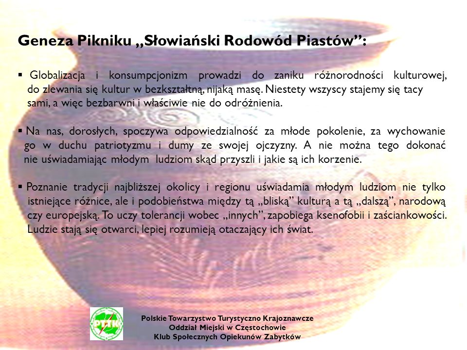 """Geneza Pikniku """"Słowiański Rodowód Piastów :"""