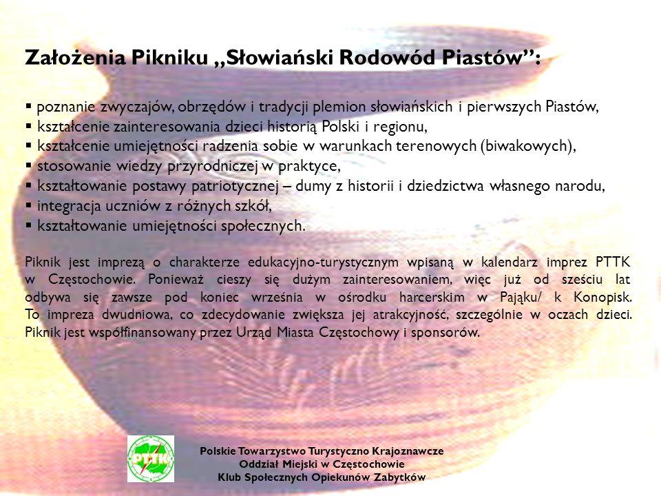 """Założenia Pikniku """"Słowiański Rodowód Piastów :"""