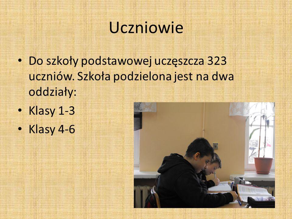 Uczniowie Do szkoły podstawowej uczęszcza 323 uczniów. Szkoła podzielona jest na dwa oddziały: Klasy 1-3.