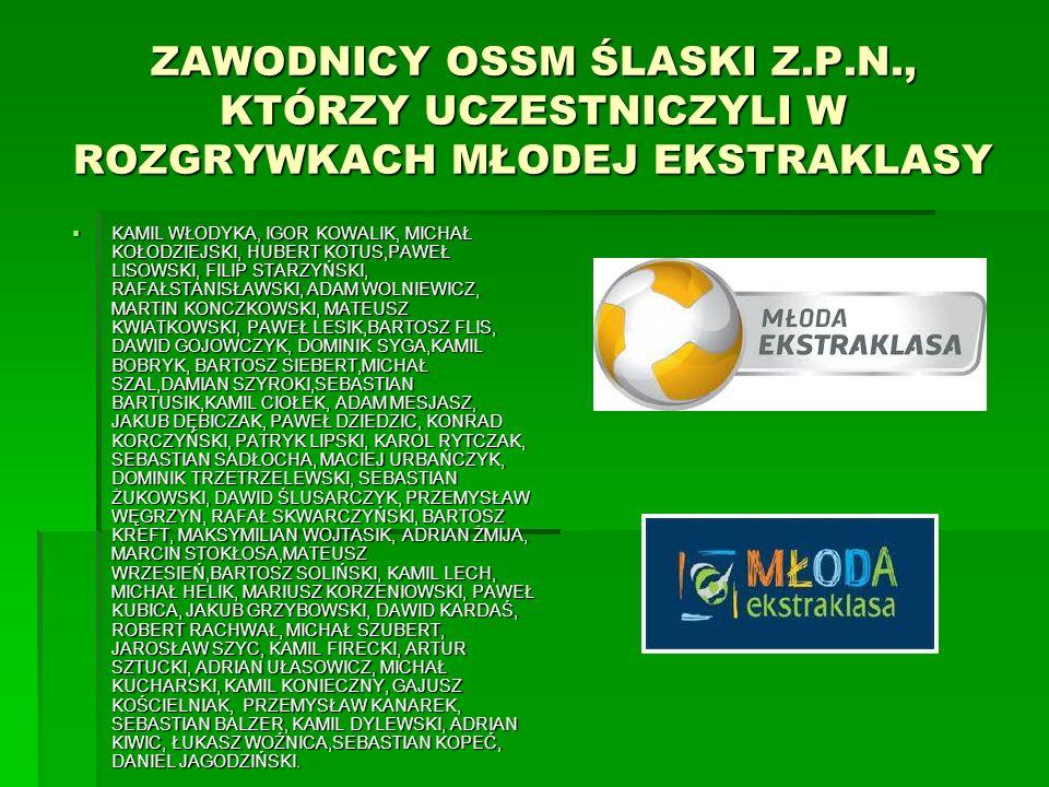 ZAWODNICY OSSM ŚLASKI Z. P. N