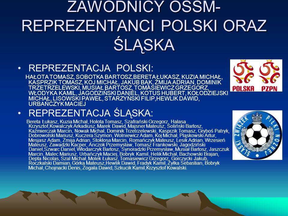 ZAWODNICY OSSM- REPREZENTANCI POLSKI ORAZ ŚLĄSKA