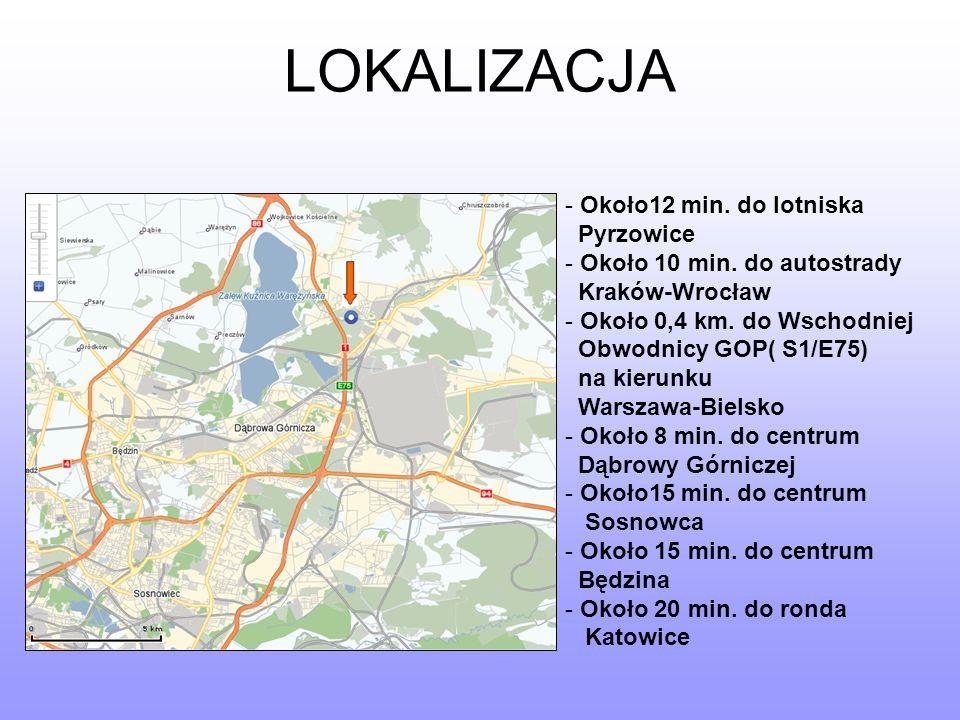 LOKALIZACJA Około12 min. do lotniska Pyrzowice