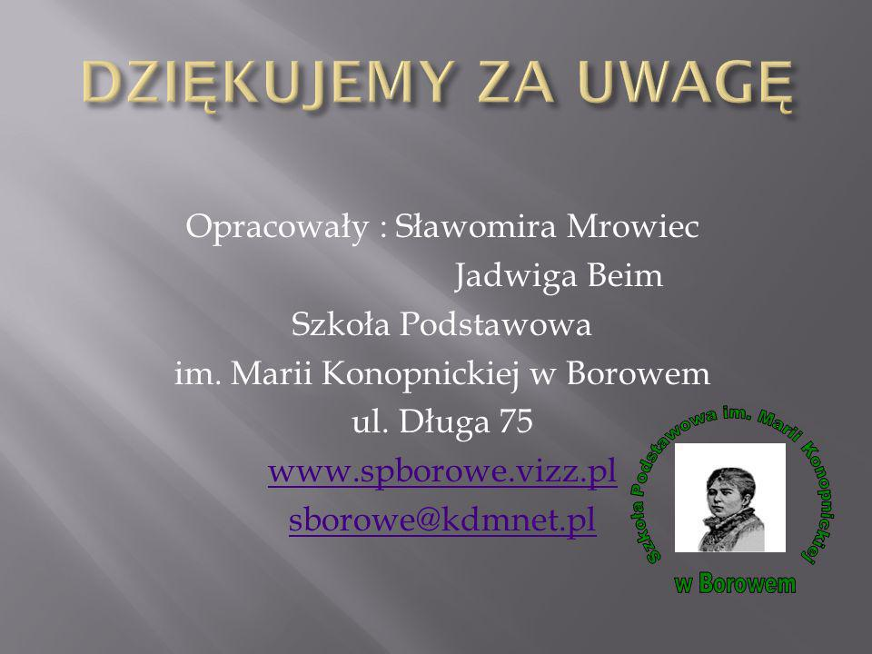 Szkoła Podstawowa im. Marii Konopnickiej