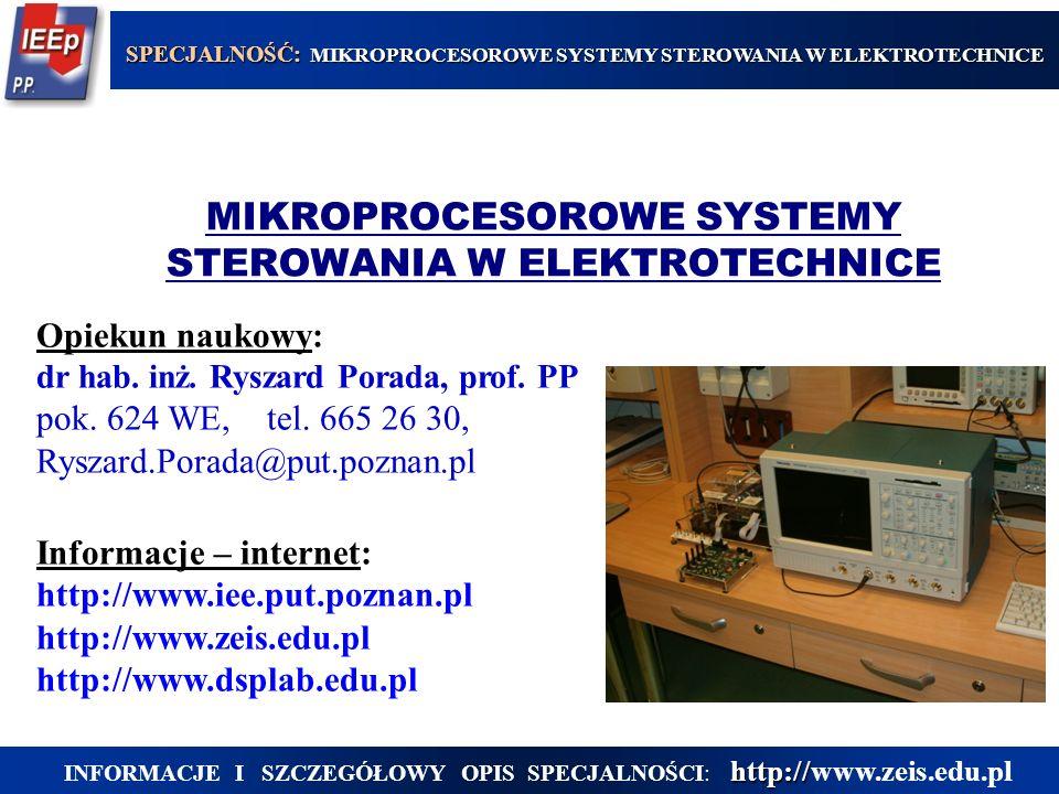 MIKROPROCESOROWE SYSTEMY STEROWANIA W ELEKTROTECHNICE
