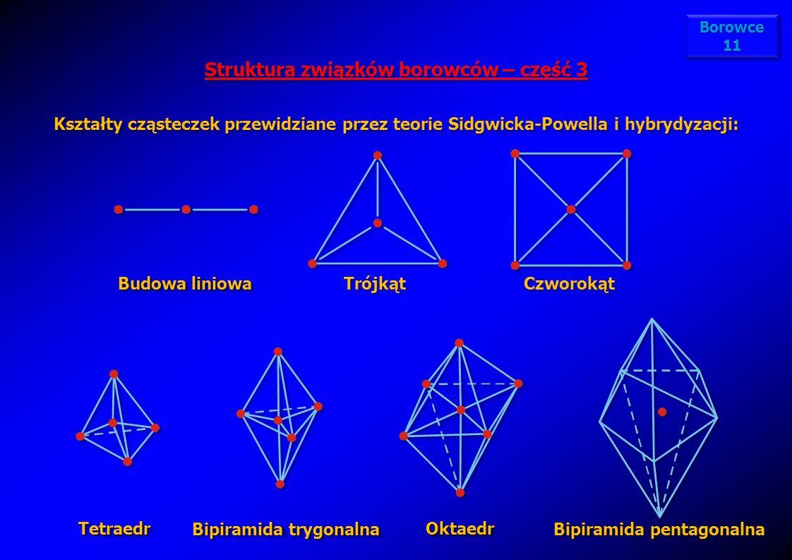 Struktura związków borowców – część 3