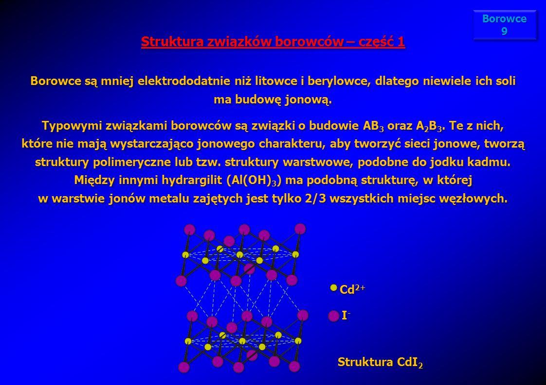 Struktura związków borowców – część 1