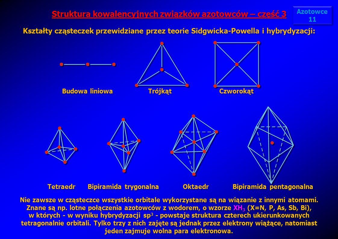 Struktura kowalencyjnych związków azotowców – część 3