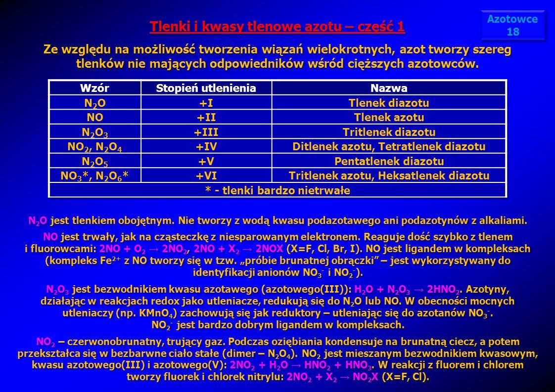 Tlenki i kwasy tlenowe azotu – część 1