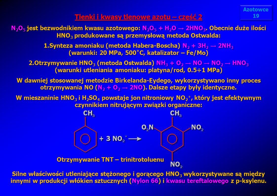 Tlenki i kwasy tlenowe azotu – część 2