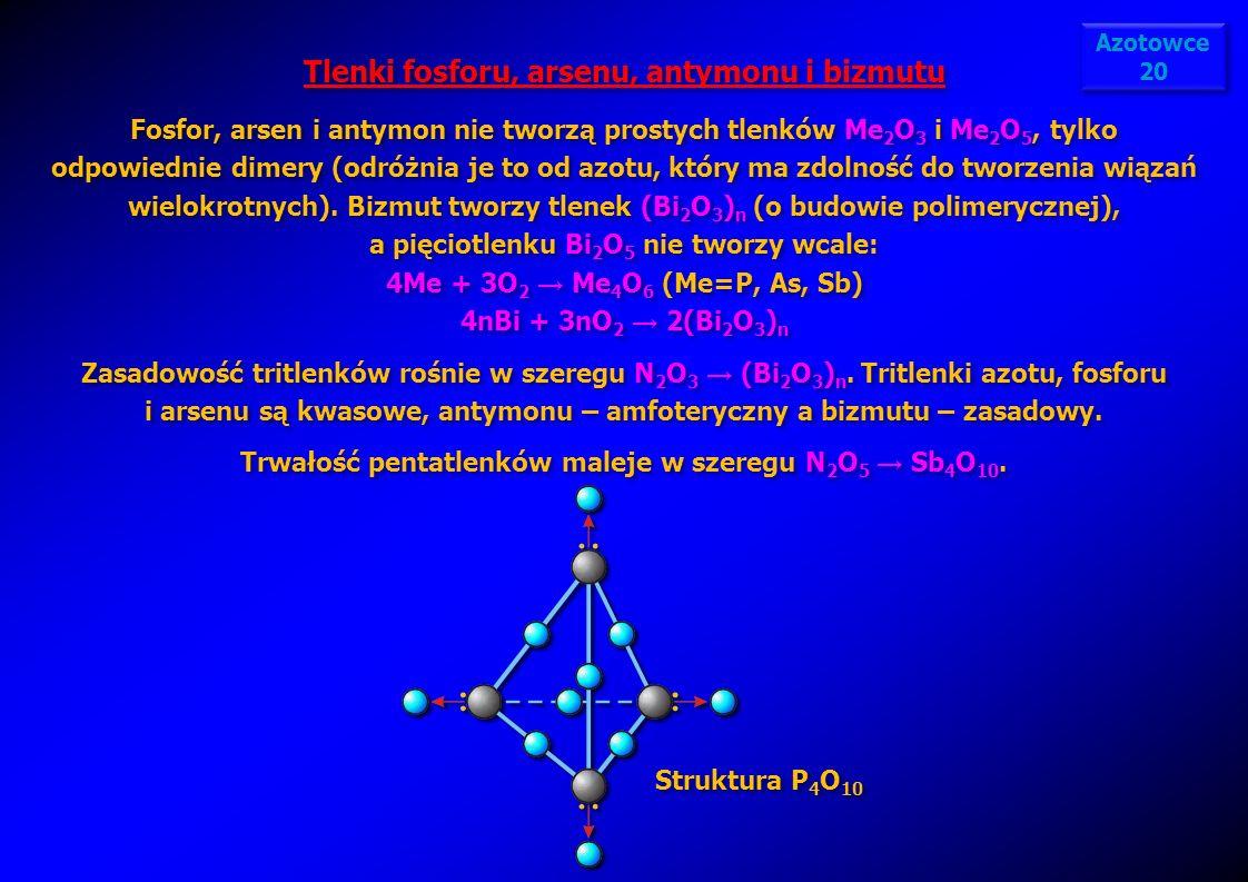 Tlenki fosforu, arsenu, antymonu i bizmutu