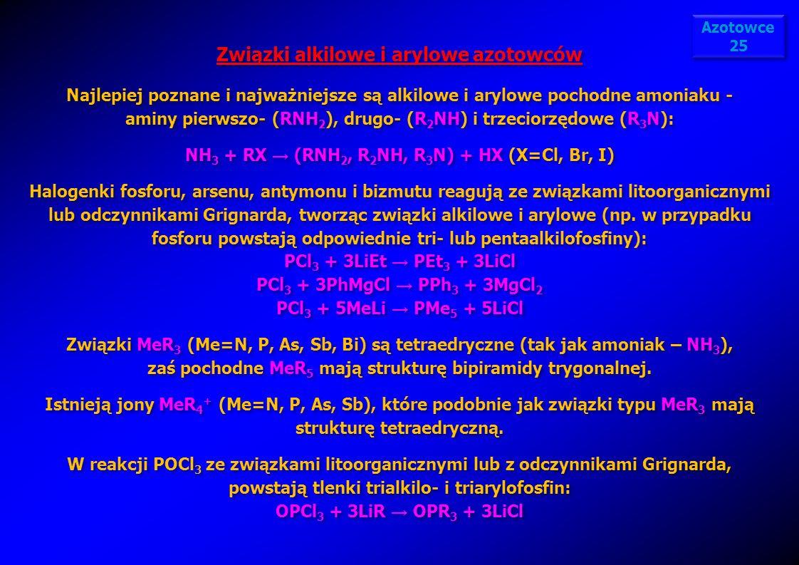 Związki alkilowe i arylowe azotowców