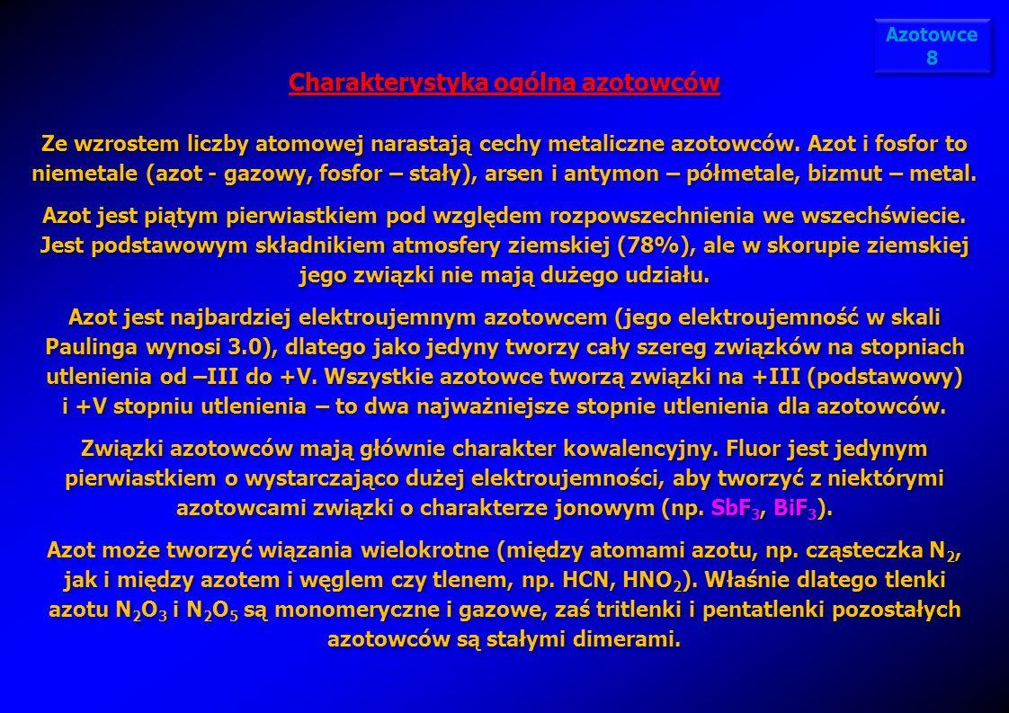 Charakterystyka ogólna azotowców
