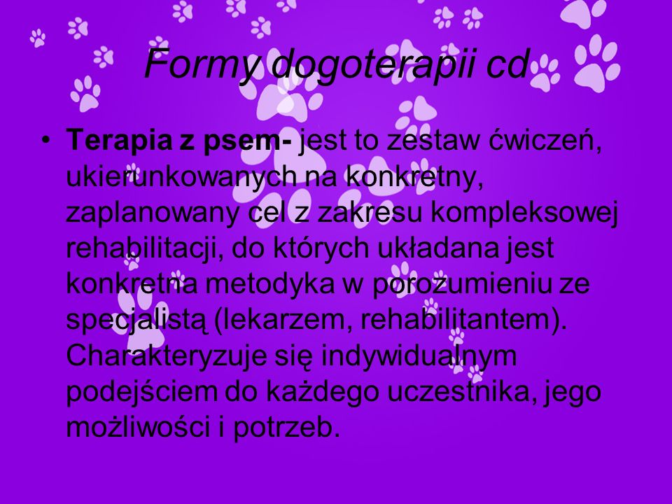 Formy dogoterapii cd