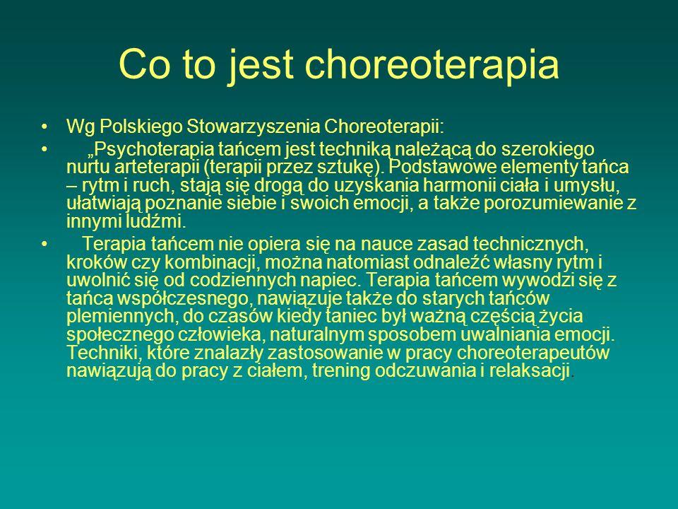Co to jest choreoterapia