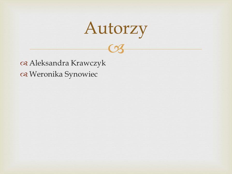 Autorzy Aleksandra Krawczyk Weronika Synowiec
